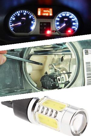Монтаж светодиодной лампы модели T20