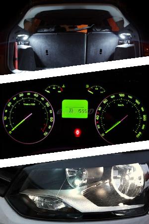 Варианты установки ламп W5W в авто