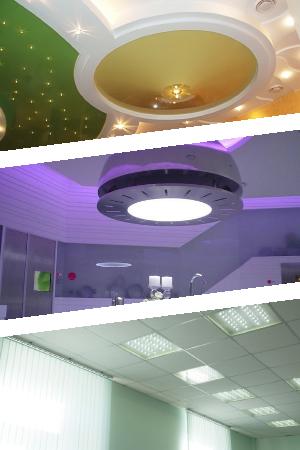 Оформление потолочных светодиодных светильников